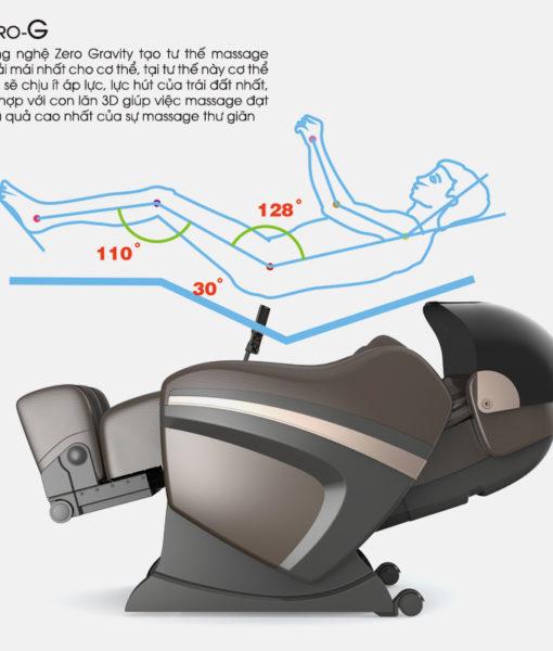 Ghế massage toàn thân Sapporo 5DS không trọng lực