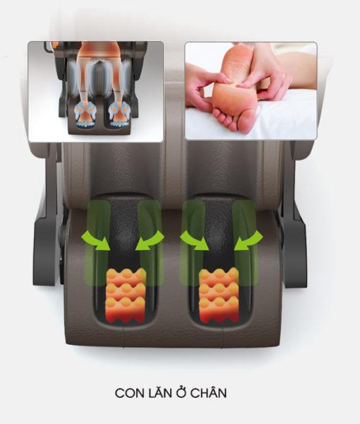 Ghế massage toàn thân Sapporo 5DS matxa chân