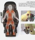 Ghế massage toàn thân Sapporo 5DS tạo nhiệt