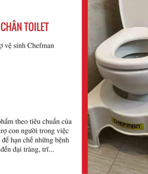 Ghế kê chân đi vệ sinh Chefman