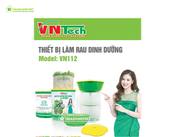 Máy làm giá đỗ sạch đa năng Vntech VN112 bền