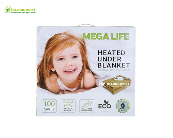 Nệm điện Mega Life 1 vùng nhiệt vỏ hộp
