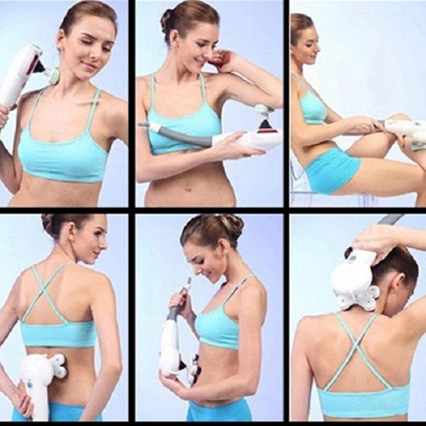 Máy massage cầm tay đa năng, máy massage hồng ngoại 7 đầu