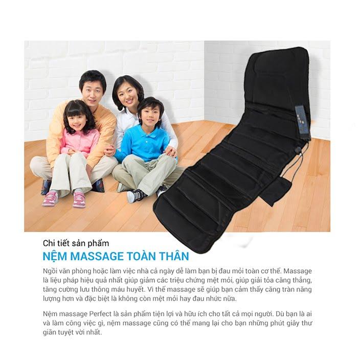 Đệm massage toàn thân chính hãng