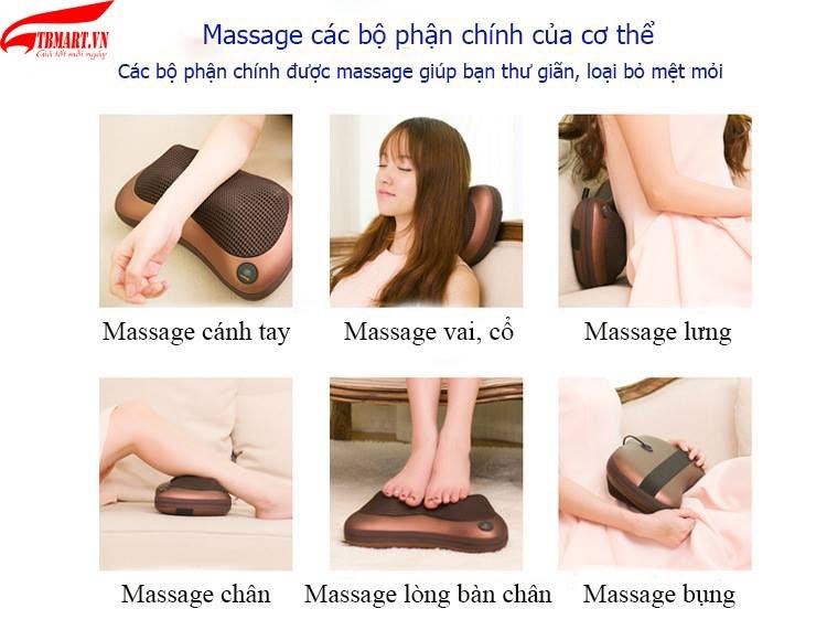 Thiết bị gối massage hồng ngoại akita đa năng
