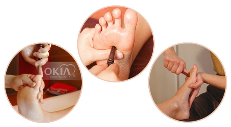Bật mí tác dụng của những chiếc máy massage chân okia