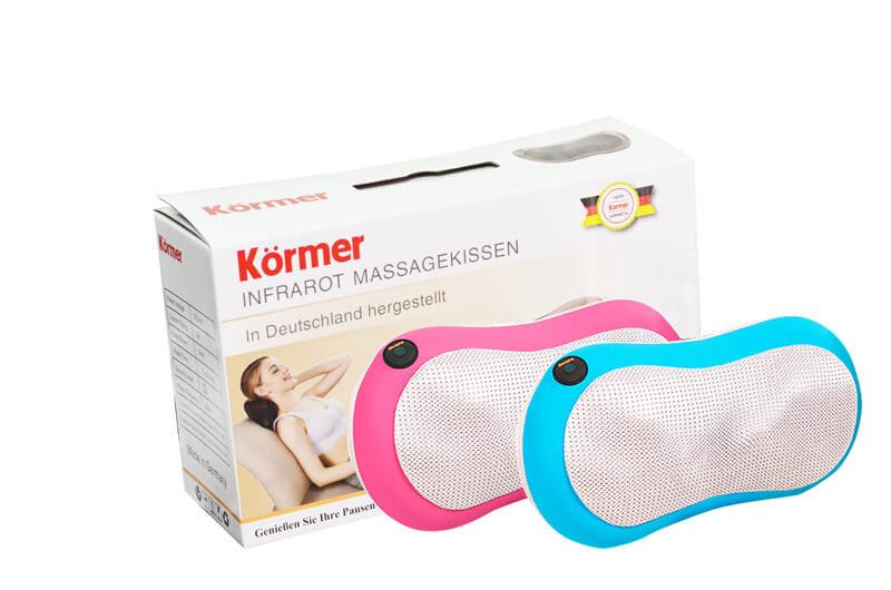 gối massage kormer giúp giảm đau vai cổ gáy