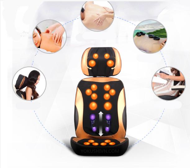 Đệm massage hồng ngoại 5d mới