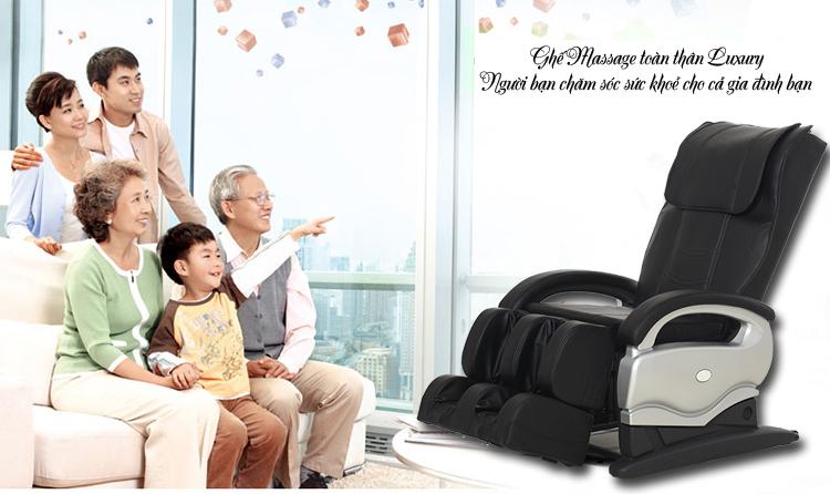Ghế massage toàn thân với hệ thống con lăn massage tự động