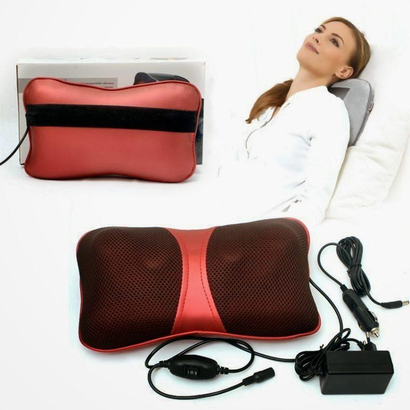 Điều trị đau mỏi vai gáy với gối massage hồng ngoại đa năng