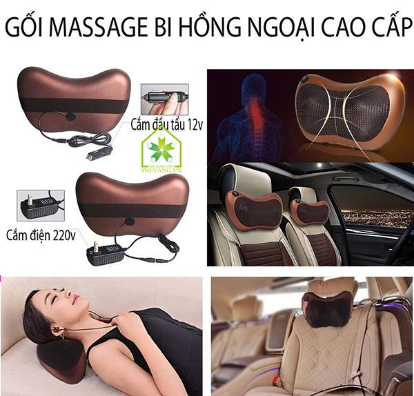 gối massage 8 bi mới