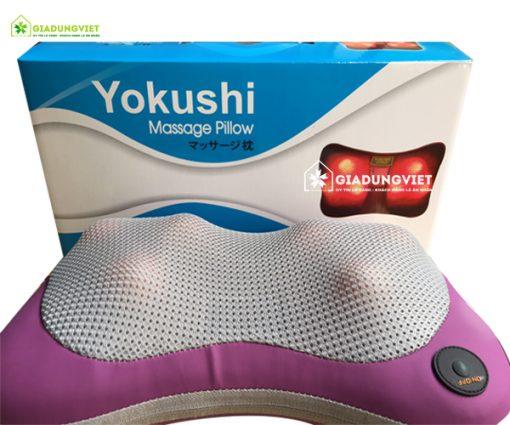 Sản phẩm gối massage nhật bản hồng ngoại 8 bi giúp cân bằng hệ miễn dịch cơ thể