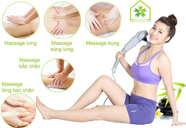 Máy massage cầm tay 7 đầu