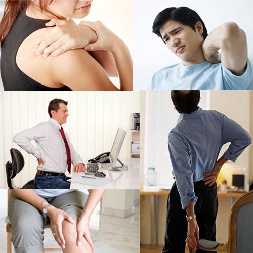 Đau mỏi vai gáy dùng máy massage hồng ngoại 6 bi
