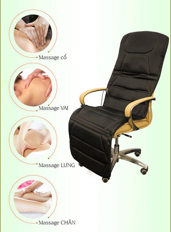 đệm massage toàn thân bella