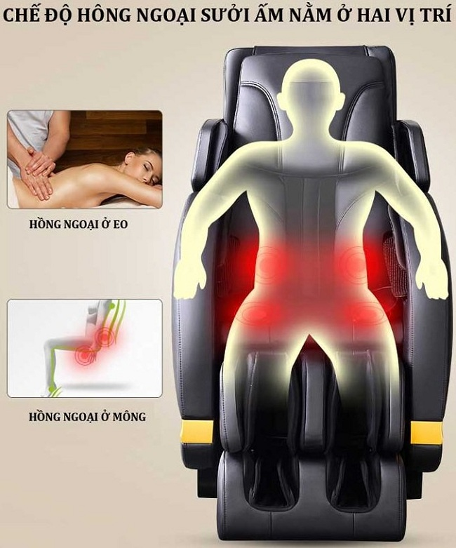 Ghế massage toàn thân hồng ngoại cao cấp