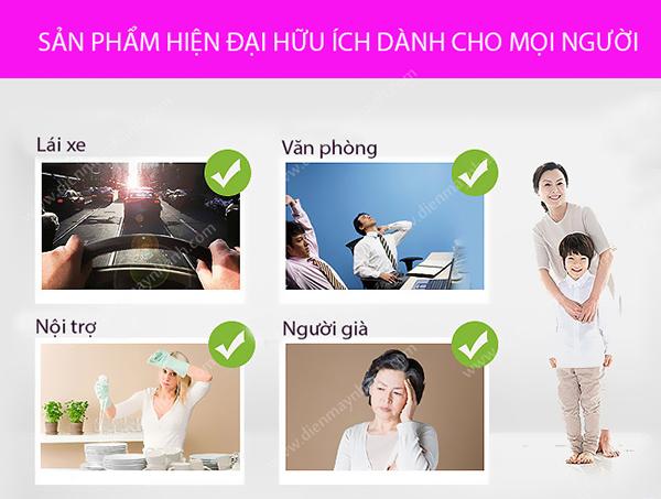 gối massage hồng ngoại akita Nhật Bản cho mọi lứa tuổi