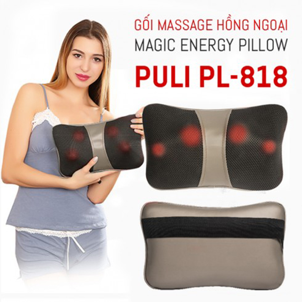 gối massage 8 bi vai gáy Magic PL 818