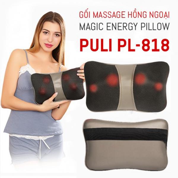 gối massage đầu 8 bi vai gáy Magic PL 818