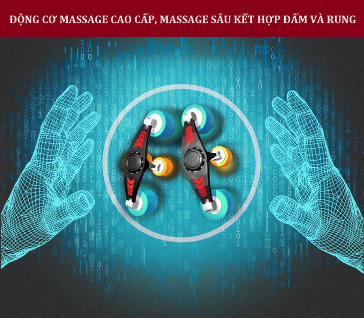 đệm massage toàn thân 6D Hàn Quốc đấm rung