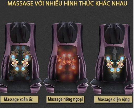 đệm massage toàn thân 6D Hàn Quốc matxa nhiều hình thức