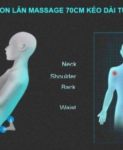 đệm massage toàn thân 6D Hàn Quốc vị trí matxa