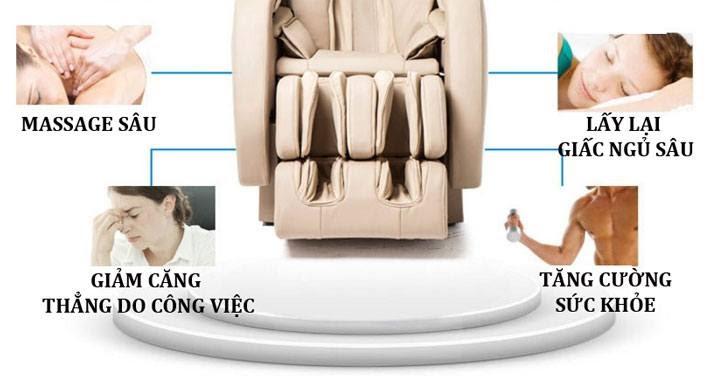 ghế massage toàn thân okia độc đáo