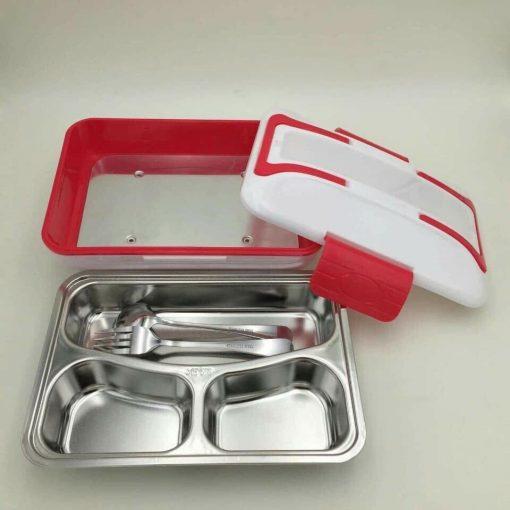 hộp cơm hâm nóng Lunchbox ruột inox 3 ngăn