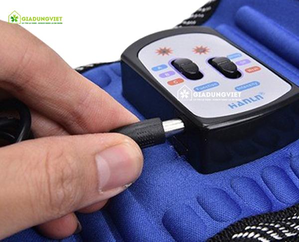 máy massage bụng Vibro X5 công tắc