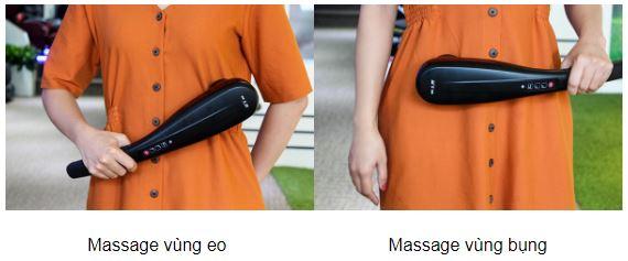 Máy massage cầm tay 6 đầu Hammer các vị trí