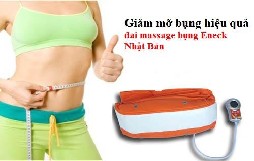 Máy massage bụng Eneck Nhật Bản - đai massage bụng