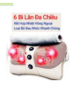 Gối massage hồng ngoại Ayosun 6 bi cao cấp