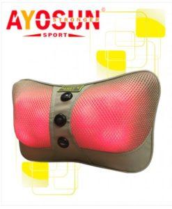 Gối massage hồng ngoại Ayosun 6 bi