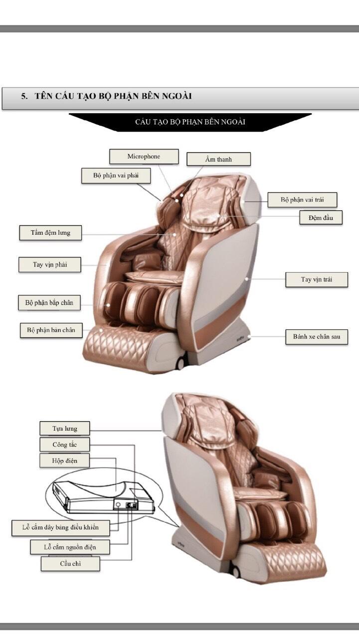 Chi tiết Ghế massage toàn thân Homesport HS 588