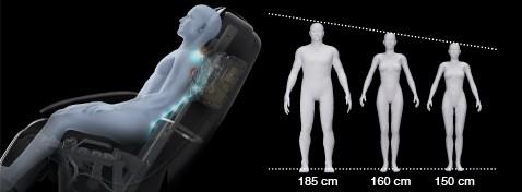 Ghế massage toàn thân Panasonic EP-MA73F kích thước rộng