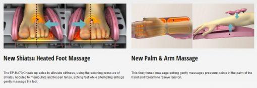 Ghế massage toàn thân Panasonic EP-MA73F matxa chân