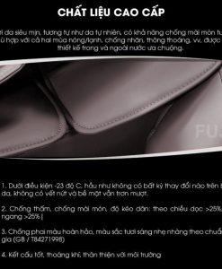 ghế massage toàn thân Fujikima Sky Pro FJ-A644 chất liệu