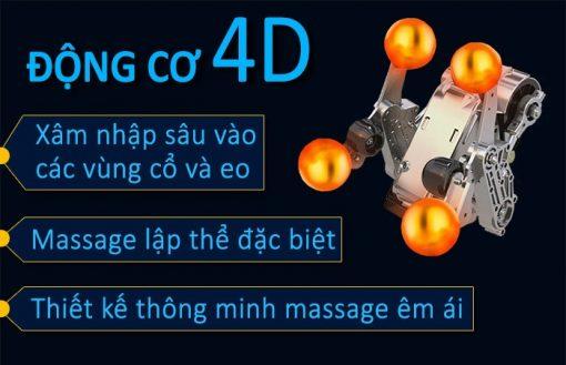 ghế massage toàn thân Fujikima Sky Pro FJ-A644 công nghệ 4D