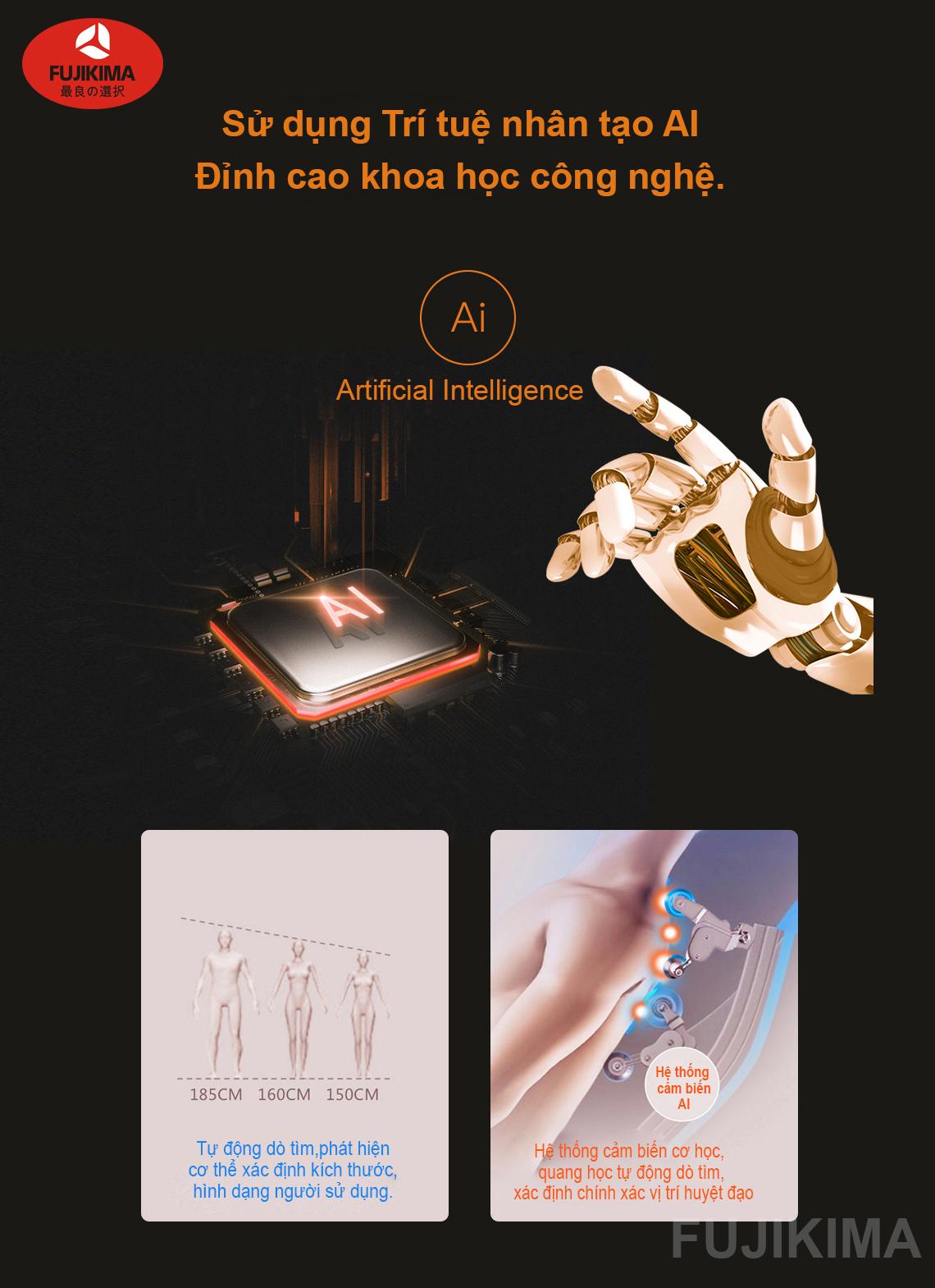 ghế massage toàn thân Fujikima Sky Pro FJ-A644 công nghệ AI