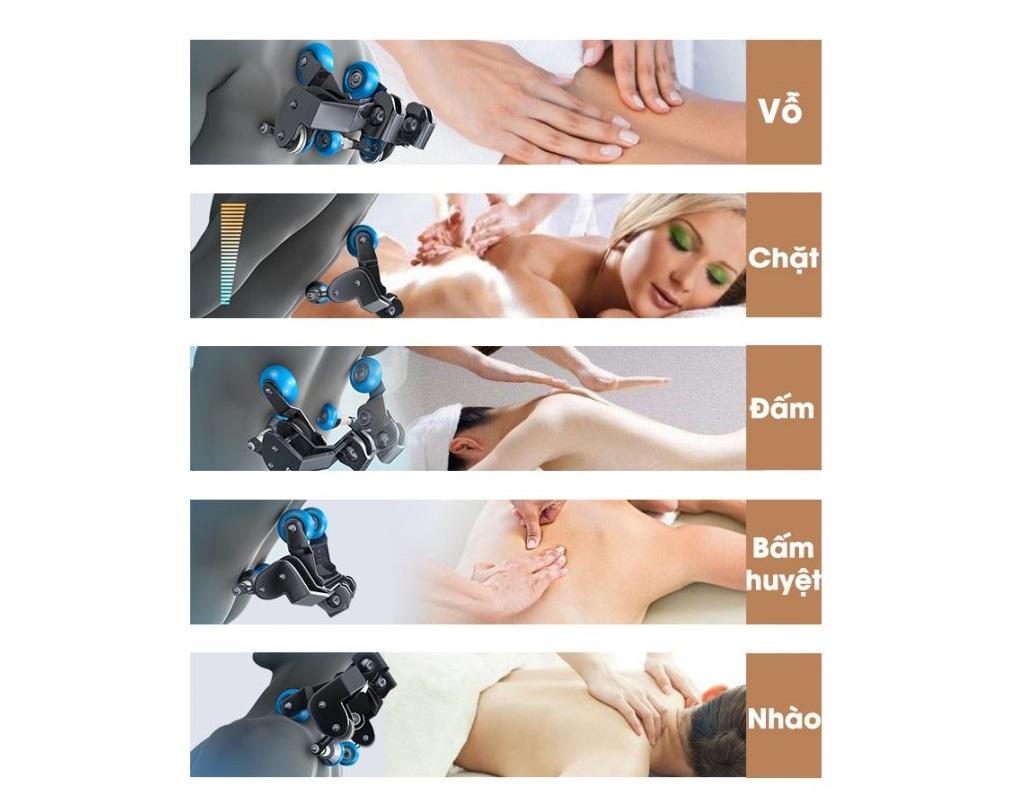 ghế massage toàn thân Fujikima Sky Pro FJ-A644 kĩ thuật matxa