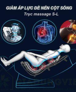 Ghế massage toàn thân Hishashi trục massage S-L