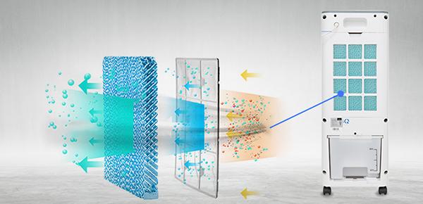 chất liệu tấm làm mát quạt điều hòa Bennix BN 8500