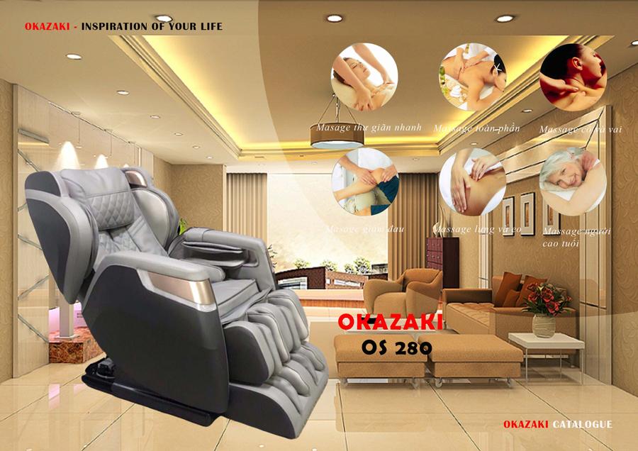 Ghế massage Okazaki OS 280 Nhật Bản