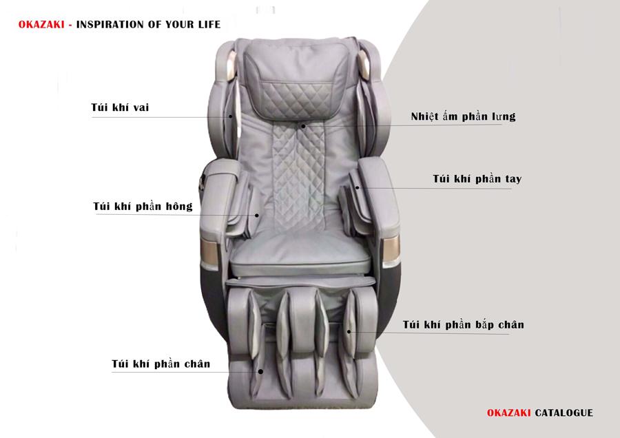 Ghế massage Okazaki OS 280 nhập khẩu