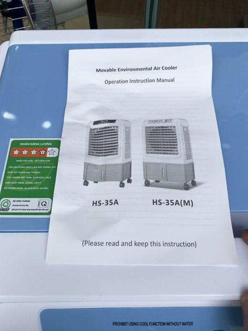 Sách hướng dẫn quạt điều hòa Bennix HS-35A