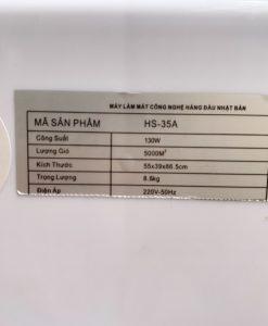 Thông số kĩ thuật quạt điều hòa Bennix HS-35A