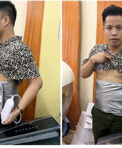 Đai massage bụng quấn nóng Saporoo cho nam