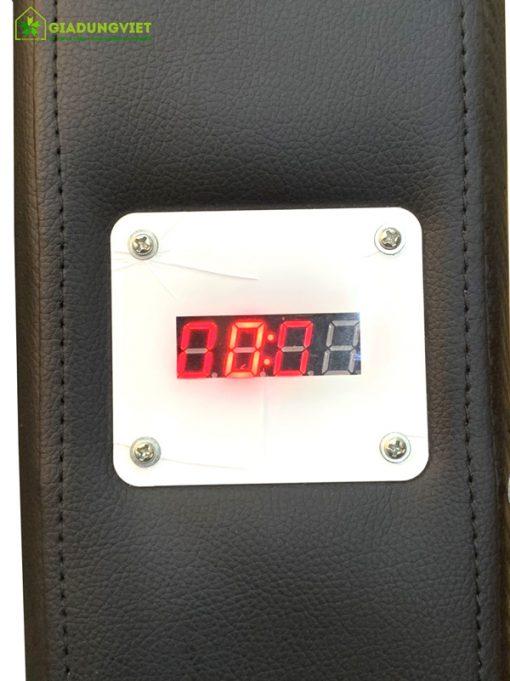 HIển thị thời gian ghế massage bỏ tiền tự động Saporoo 6803