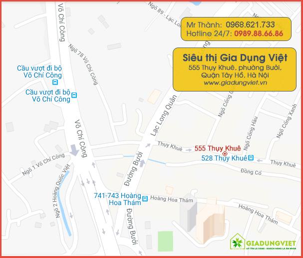 Địa chỉ map showroom Gia Dụng Việt