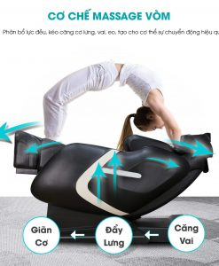 ghế massage Nhật Bản Okinawa JS 800 cơ chế vòm